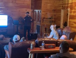 Rubens speaking at Band of Brother's retreat