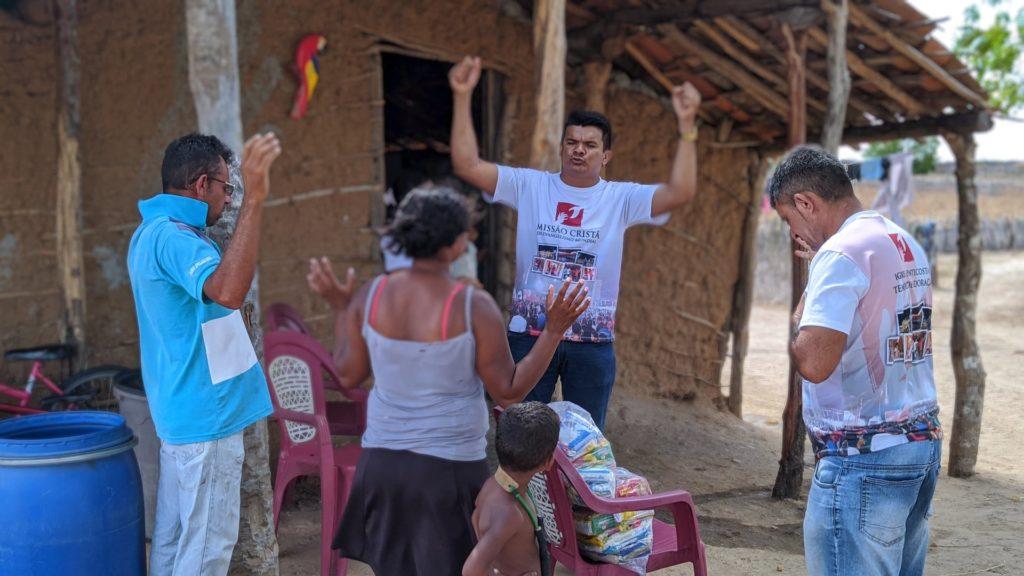 Volunteers preaching